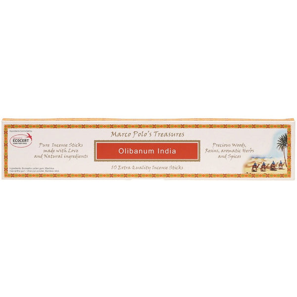 Marco Polo's Treasures Incense Sticks Olibanum India x 10 - Essentially Health Online