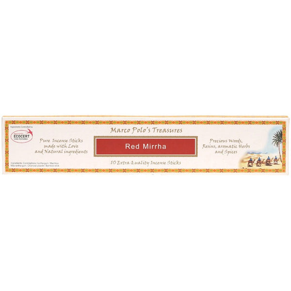 Marco Polo's Treasures Incense Sticks Red Mirrha x10 - Essentially Health Online