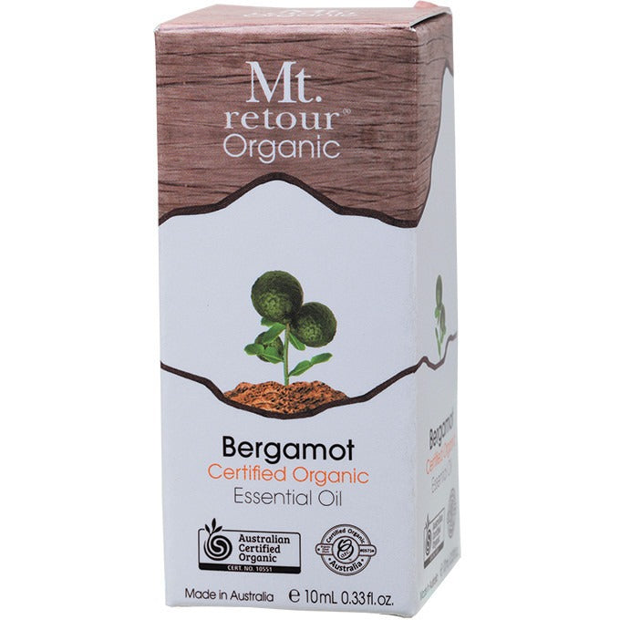 Mt Retour Essential Oil (100%) Certified Organic Bergamot 10ml - Essentially Health Online Vegan Health Store