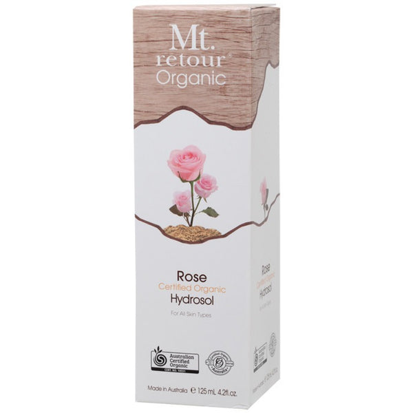 Mt Retour Face & Body Mist Hydrosol Freshener Spray - Rose 125ml - Essentially Health Online Vegan Health Store Afterpay