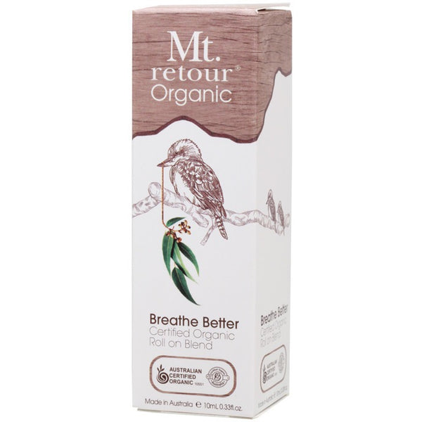 Mt Retour Essential Oil (100%) Breathe Better Blend (Roll-on) 10ml - Essentially Health Online Vegan Health Store