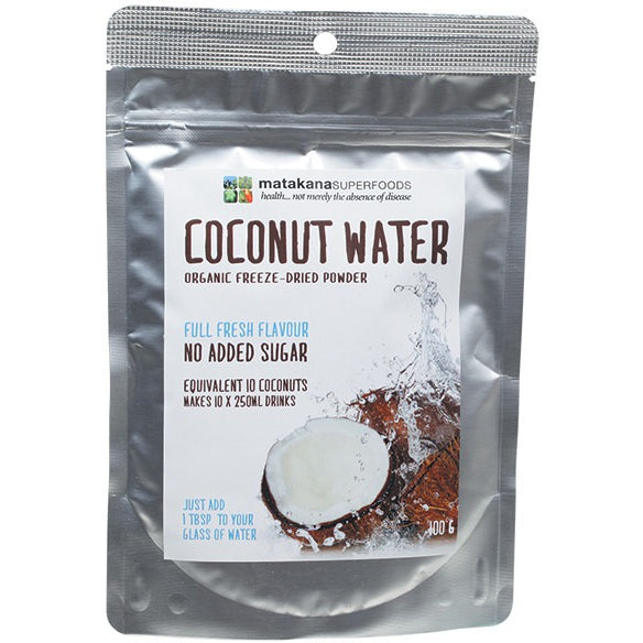 Matakana Superfoods Coconut Water Powder Freeze Dried 100g - Essentially Health Online Vegan Health Store Afterpay