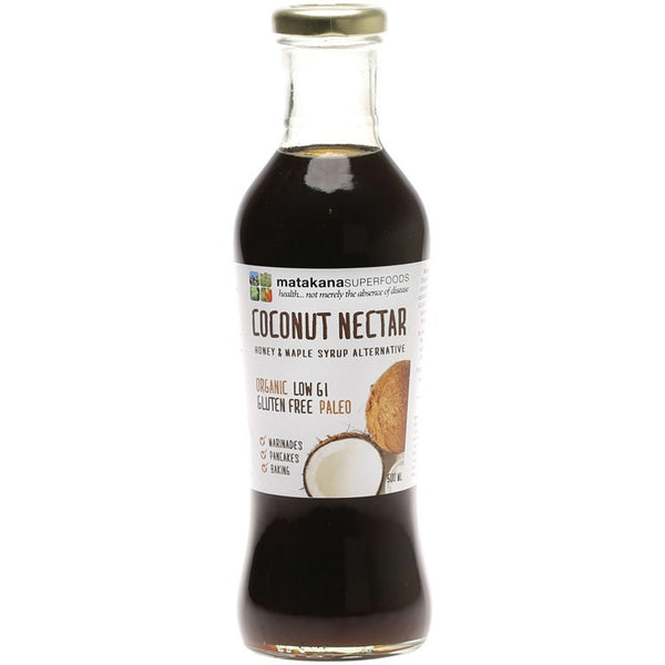 Matakana Superfoods Coconut Nectar Sweet Sap of the Coconut Flower 500g - Essentially Health Online Vegan Health Store Afterpay