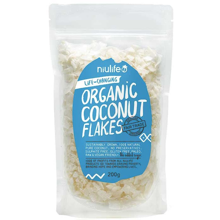 Niulife Flaked Coconut  200g - Essentially Health Online Vegan Health Store Afterpay