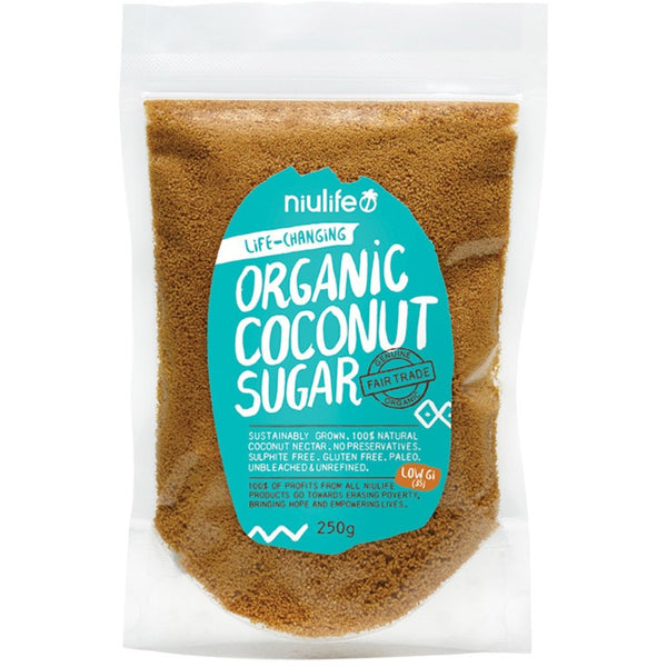 Niulife Coconut Sugar  250g - Essentially Health Online Vegan Health Store Afterpay