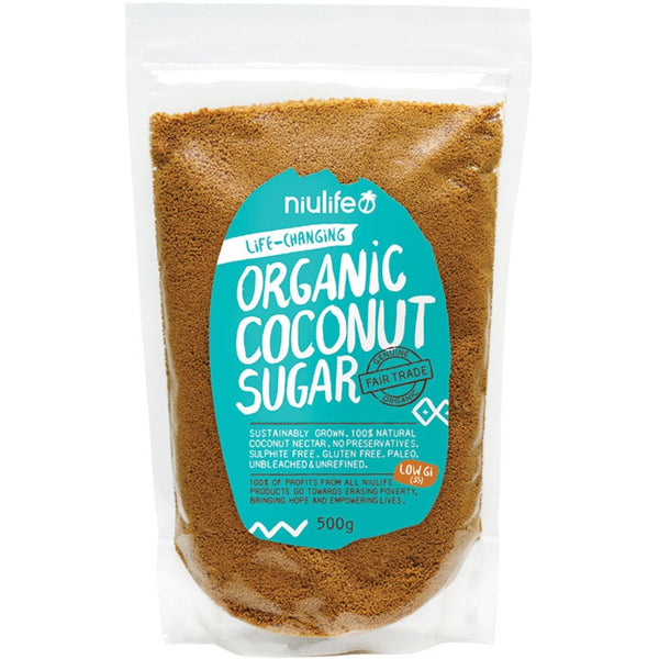 Niulife Coconut Sugar  500g - Essentially Health Online Vegan Health Store Afterpay