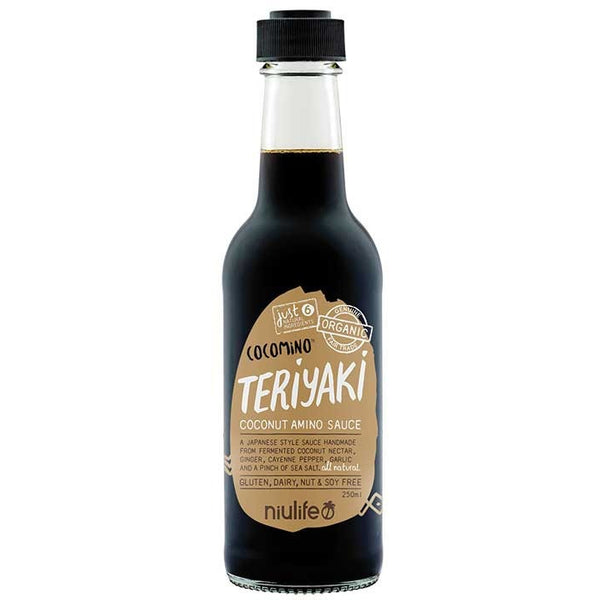 Niulife Coconut Teriyaki Sauce  250ml - Essentially Health Online Vegan Health Store