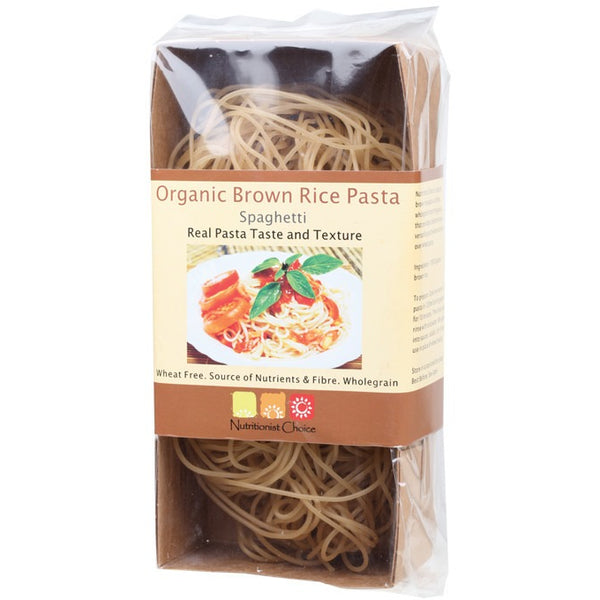 Nutritionist Choice Brown Rice Pasta Spaghetti 180g - Essentially Health Online Vegan Health Store