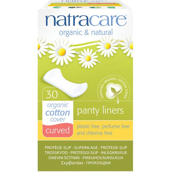 Natracare Panty Liners Curved (30 pack) - Essentially Health Online Vegan Health Store Afterpay