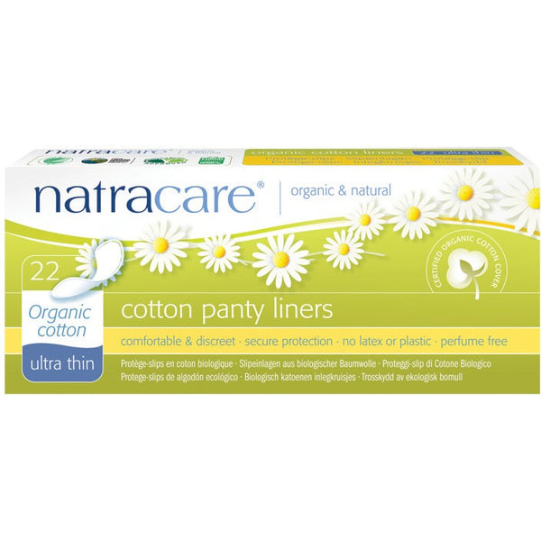 Natracare Panty Liners Ultra Thin (22 pack) - Essentially Health Online Vegan Health Store