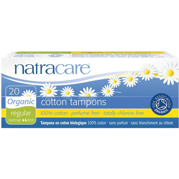 Natracare Tampons (Non-Applicator) Regular 20 pack - Essentially Health Online Vegan Health Store