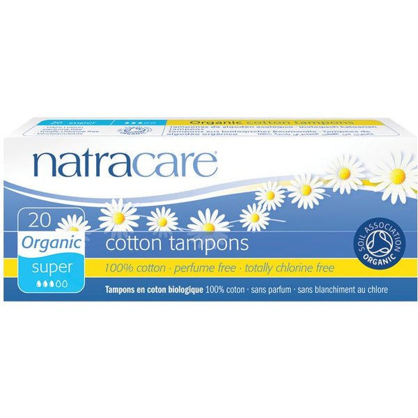 Natracare Tampons (Non-Applicator) Super (20 pack) - Essentially Health Online Vegan Health Store