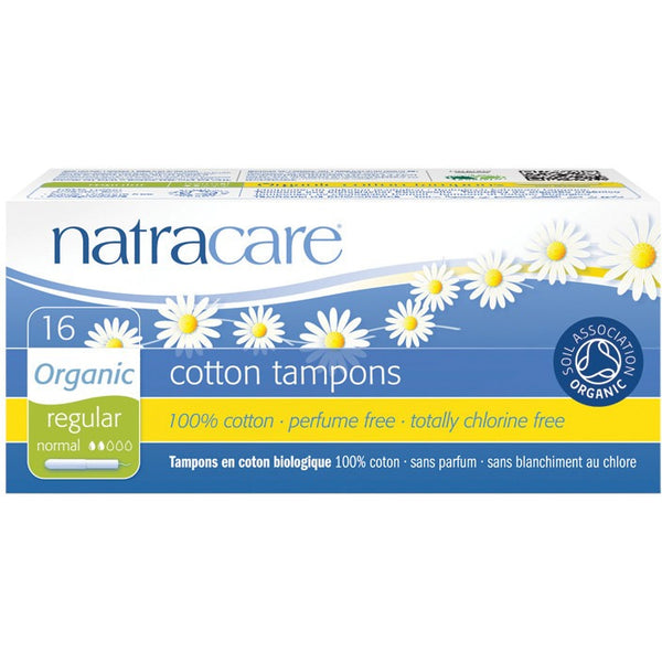 Natracare Tampons (Applicator) Regular (16 pack) - Essentially Health Online Vegan Health Store Afterpay