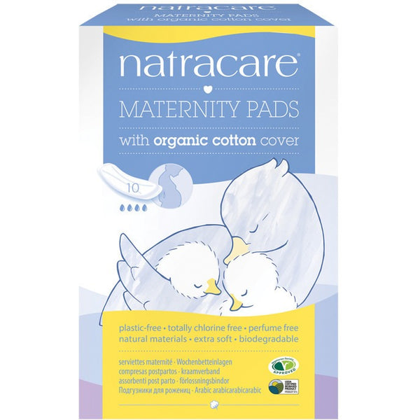 Natracare Maternity Pads (10 pack) - Essentially Health Online Vegan Health Store