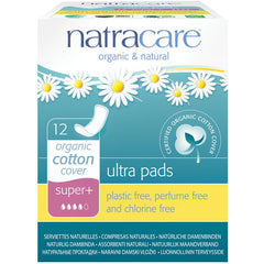 Natracare Ultra Pads Super Plus (12 pack) - Essentially Health Online Vegan Health Store
