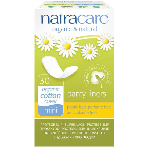 Natracare Panty Liners Mini (30 pack) - Essentially Health Online Vegan Health Store