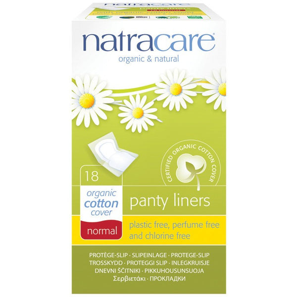 Natracare Panty Liners Normal - Individually Wrapped (18 pack) - Essentially Health Online Vegan Health Store