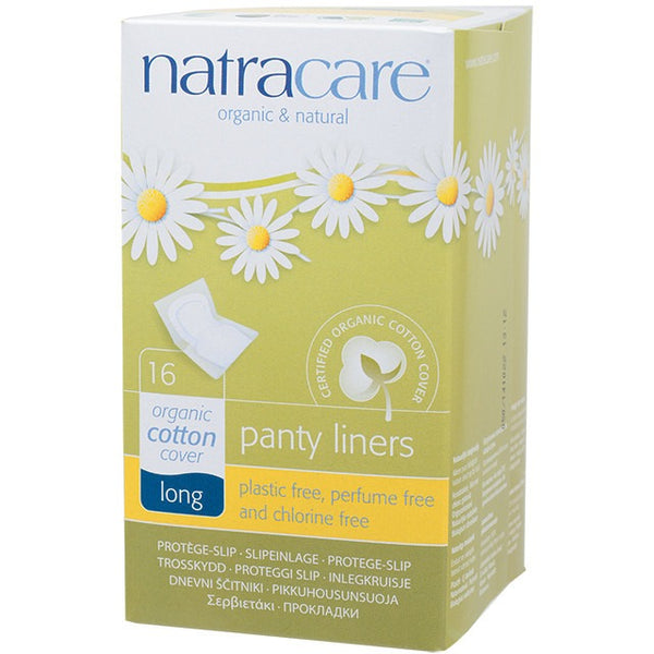 Natracare Panty Liners Long (16 pack) - Essentially Health Online Vegan Health Store