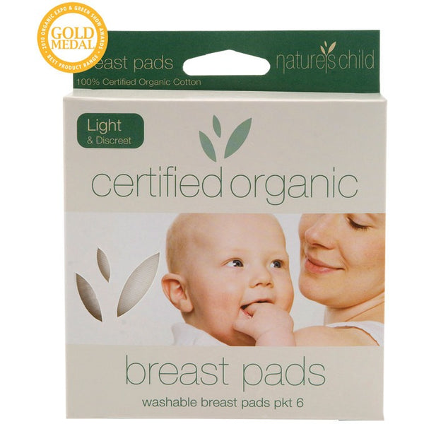 Nature's Child Cotton Breast Pads Light (6 pack) - Essentially Health Online Vegan Health Store