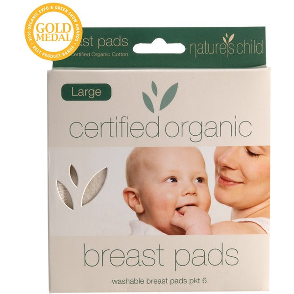 Nature's Child Cotton Breast Pads Night/Large (6 pack) - Essentially Health Online Vegan Health Store
