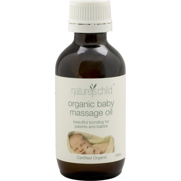 Nature's Child Organic Baby Massage Oil 100ml - Essentially Health Online Vegan Health Store Afterpay
