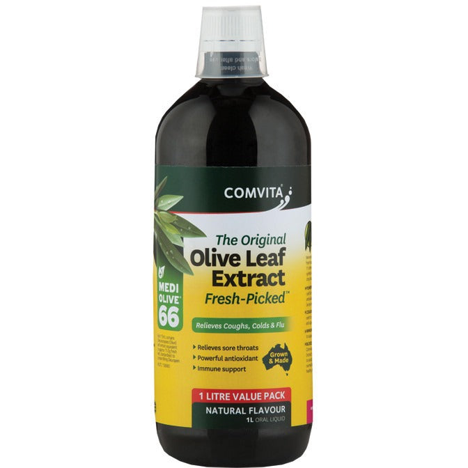 "Olive Leaf Extract Original ""Fresh Picked"" Natural 1L - Essentially Health Online Vegan Health Store Afterpay"
