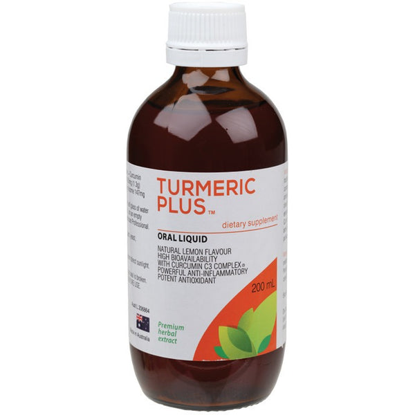 Pure Food Essentials Turmeric Plus Dietary Supplement 200ml - Essentially Health Online Vegan Health Store