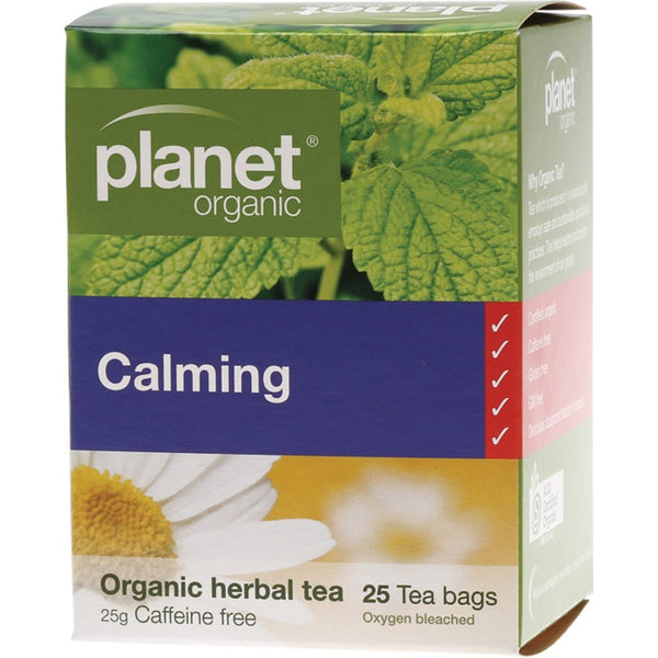 Planet Organic Herbal Tea Bags Calming 25 bags - Essentially Health Online Vegan Health Store