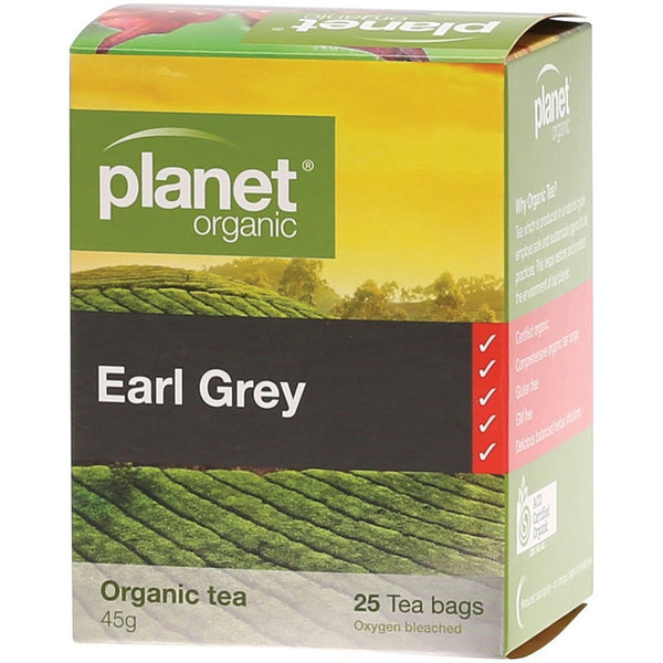 Planet Organic Herbal Tea Bags Earl Grey 25 bags - Essentially Health Online Vegan Health Store