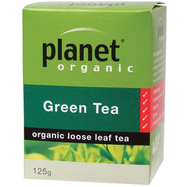 Planet Organic Herbal Loose Leaf Tea Green Tea 125g - Essentially Health Online Vegan Health Store