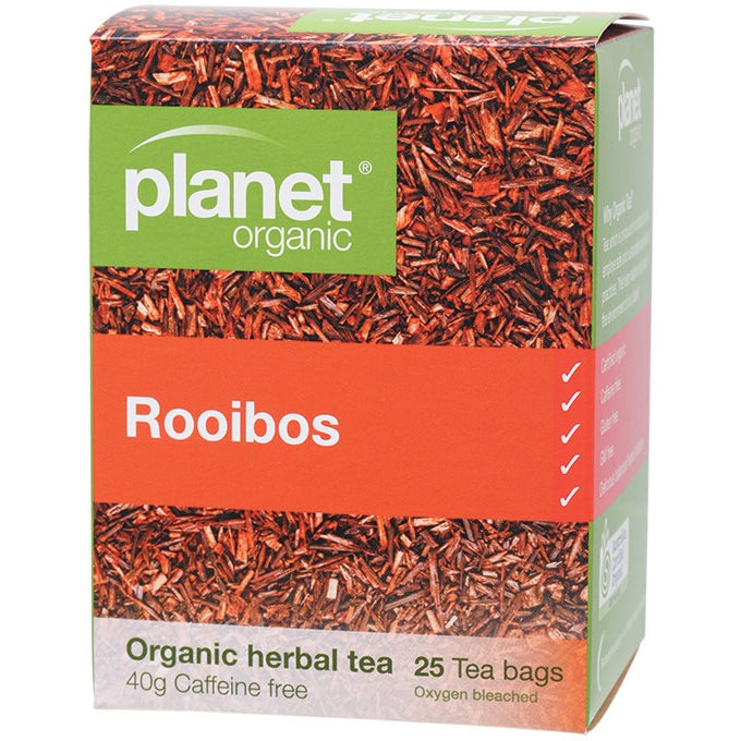 Planet Organic Herbal Tea Bags Rooibos 25 bags - Essentially Health Online Vegan Health Store Afterpay