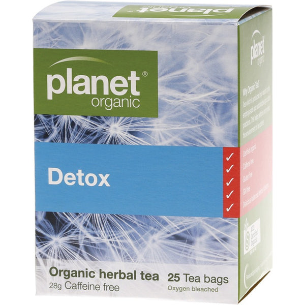 Planet Organic Herbal Tea Bags Detox 25 bags - Essentially Health Online Vegan Health Store