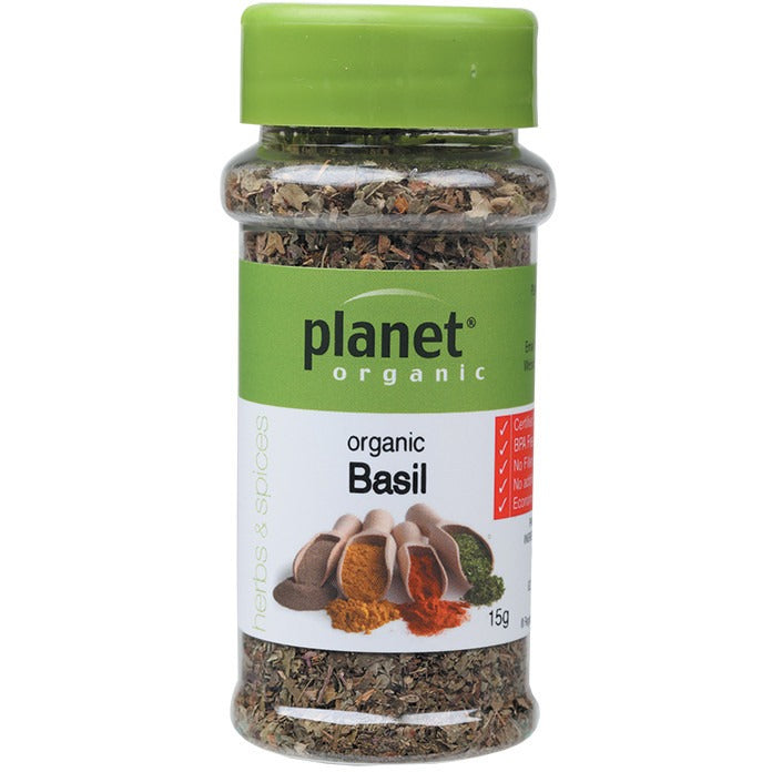 Planet Organic Herbs Basil 15g - Essentially Health Online Vegan Health Store Afterpay