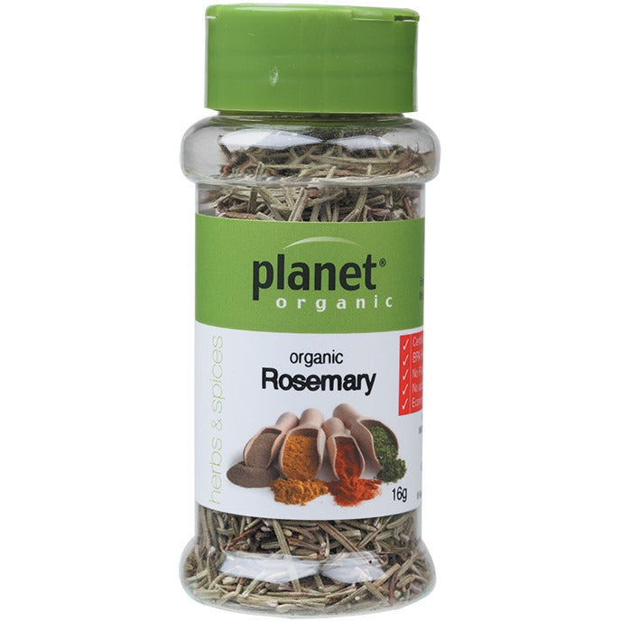 Planet Organic Herbs Rosemary 16g - Essentially Health Online Vegan Health Store