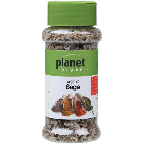 Planet Organic Herbs Sage 12g - Essentially Health Online Vegan Health Store
