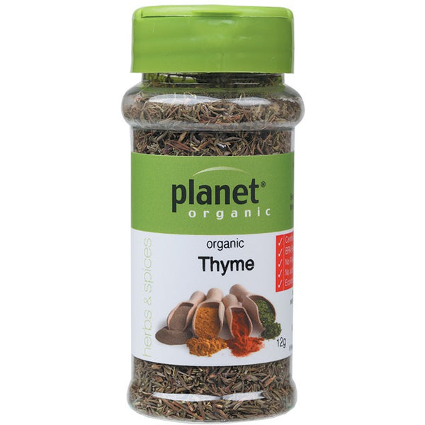 Planet Organic Herbs Thyme 25g - Essentially Health Online Vegan Health Store