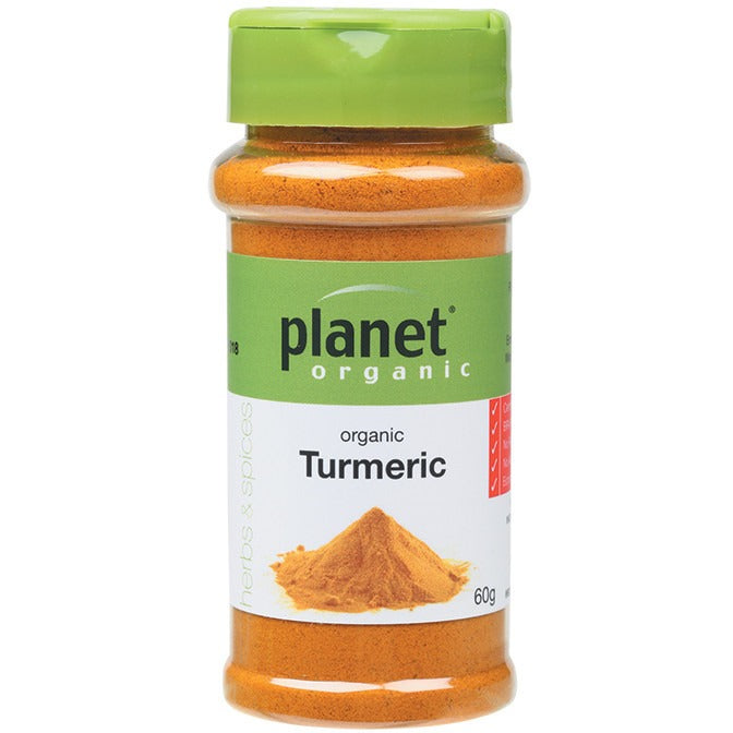 Planet Organic Spices Turmeric 55g - Essentially Health Online Vegan Health Store