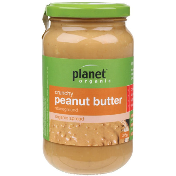 Planet Organic Crunchy Peanut Butter 375g - Essentially Health Online Vegan Health Store Afterpay