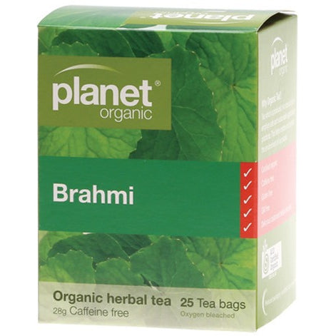 Planet Organic Herbal Tea Bags Brahmi 25 bags - Essentially Health Online Vegan Health Store