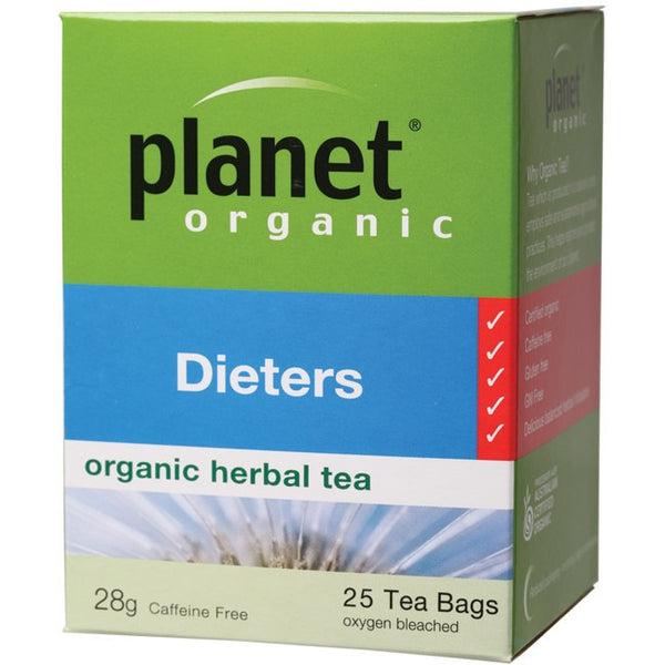 Planet Organic Herbal Tea Bags Dieters 25 bags - Essentially Health Online Vegan Health Store