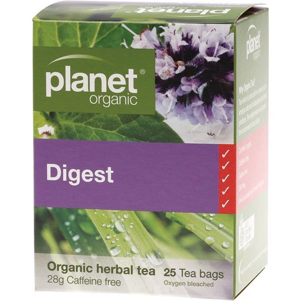 Planet Organic Herbal Tea Bags Digest 25 bags - Essentially Health Online Vegan Health Store