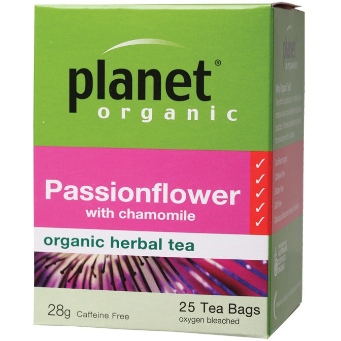 Planet Organic Herbal Tea Bags Passionflower 25 bags - Essentially Health Online Vegan Health Store Afterpay