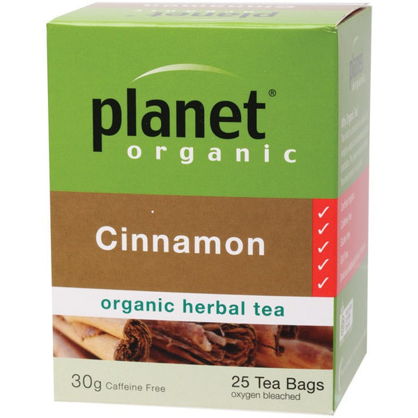 Planet Organic Herbal Tea Bags Cinnamon 25 bags - Essentially Health Online Vegan Health Store