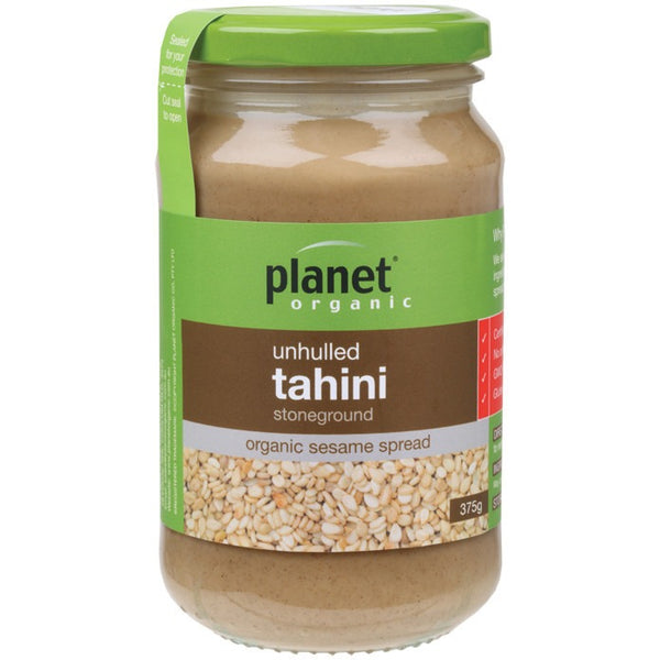 Planet Organic Tahini Unhulled 375g - Essentially Health Online Vegan Health Store Afterpay