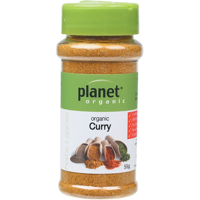 Planet Organic Herbs Curry 55g - Essentially Health Online Vegan Health Store Afterpay