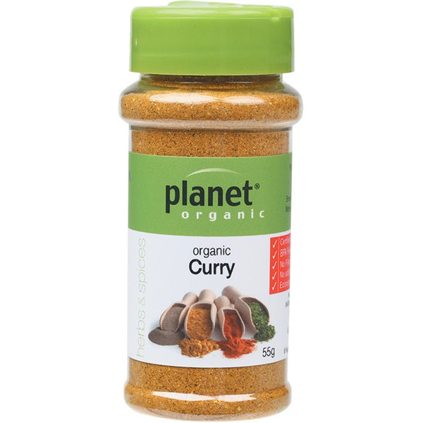 Planet Organic Herbs Curry 55g - Essentially Health Online Vegan Health Store