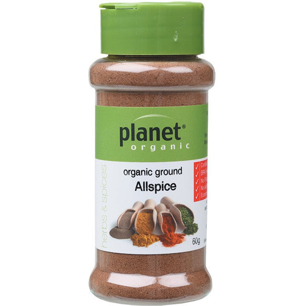 Planet Organic Spices Allspice 60g - Essentially Health Online Vegan Health Store