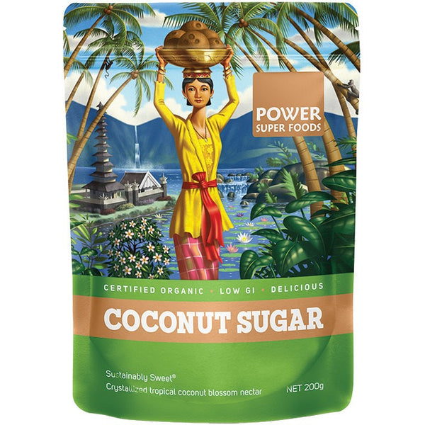 "Power Super Foods Coconut Sugar (Sustainably Sweet) ""The Origin Series"" 200g - Essentially Health Online Vegan Health Store Afterpay"