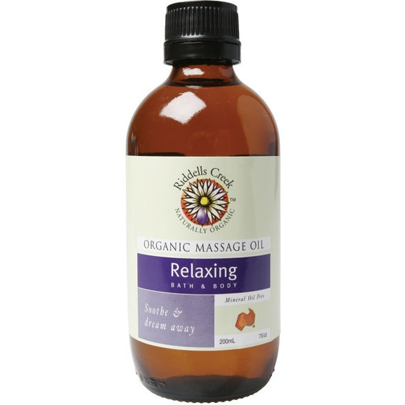 Riddells Creek Massage Oil Relaxing 200ml - Essentially Health Online Vegan Health Store Afterpay