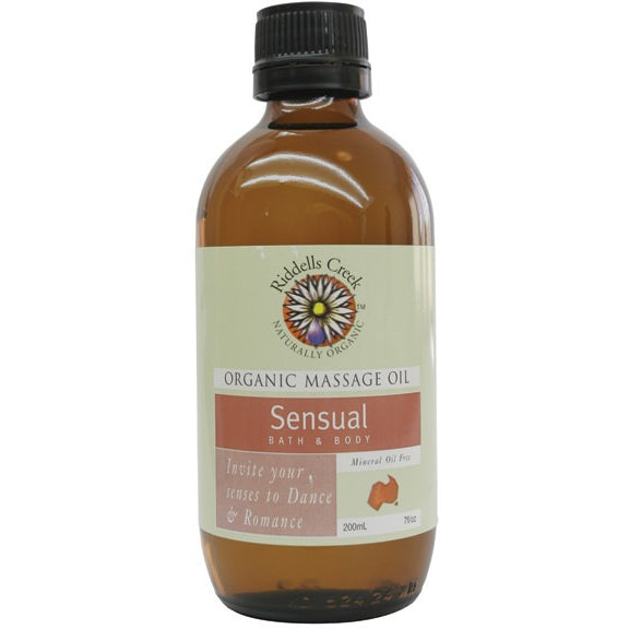Riddells Creek Massage Oil Sensual 200ml - Essentially Health Online Vegan Health Store Afterpay